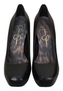 Jessica Simpson Black Nappa Pumps
