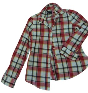 Gap Button Down Shirt Red, blue, white plaid