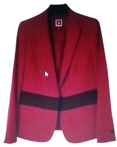 Anne Klein Red and oxblood Blazer