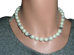 Judith Jack NWT Judith Jack Signature Pearl Crystal Silver Choker Necklace