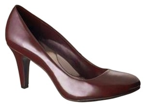 Mossimo Supply Co. Patent Almond Toe Burgundy Pumps