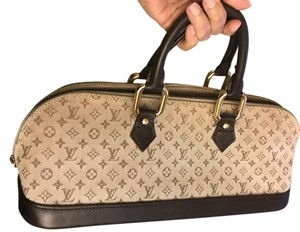 Louis Vuitton Lv Monogram Mini Lin Satchel in Tan/Brown