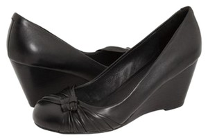 ALDO Work Twist Knot Black Wedges