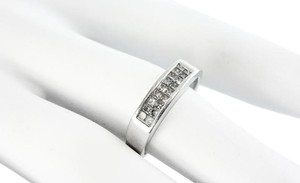 Diamond Cluster Ring Princess Cut Diamond Cluster in 14k White Gold Ring .