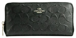 Coach Patent leather accordion zip wallet