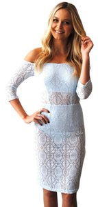 Asilio Body Suit Lace Lace Open Off Dress