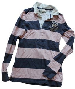 Rugby Ralph Lauren Button Down Shirt Pink and Navy