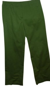Talbots Stretchy Cord Military Designer Wide Leg Trouser Pants green