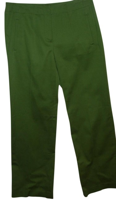 Item - Green Military Wide Leg Fine Cotton Corduroy Stretch Pants Size 4 (S, 27)