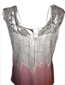 Banana Republic Top Peachy pink w. ivory lace