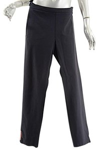 Prada Nylon Straight Pants Black