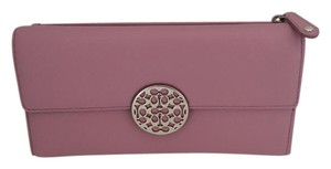 Coach Coach Alexandra Leather Purple Wallet New