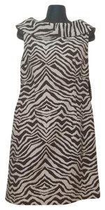 Dana Buchman short dress Brown/white on Tradesy