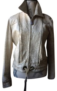Other LIGHT BEIGE AND BROWN Leather Jacket