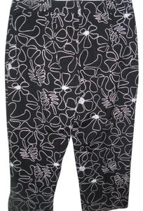 Talbots Embroidered Evening Resort Capris black