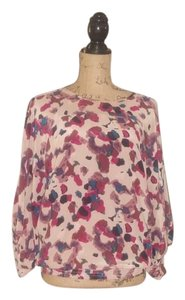 Parker Silk Dolman Sleeve Flowy Comfortable Top Multi