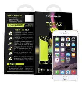Winnergear Topaz Glass 3D FillGlass Nanotechnology Screen Protector Black For iPhone 6 / 6S (White)