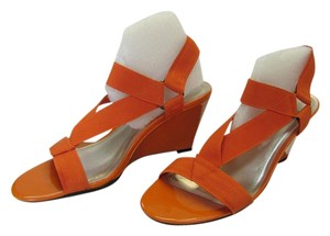Impo Size 9.50 Very Good Condition Tangerine Wedges