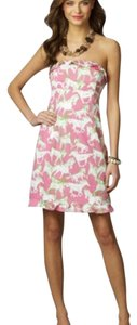 Lilly Pulitzer short dress Pink/White/Green on Tradesy