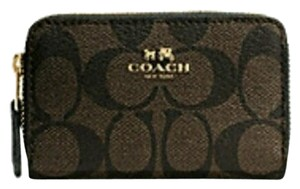 Coach Double zip coin wallet