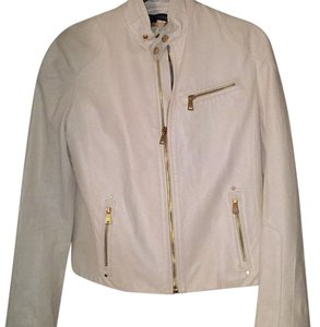 Ralph Lauren White Leather Jacket