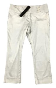 Other Wide Waistband Pockets Capris White