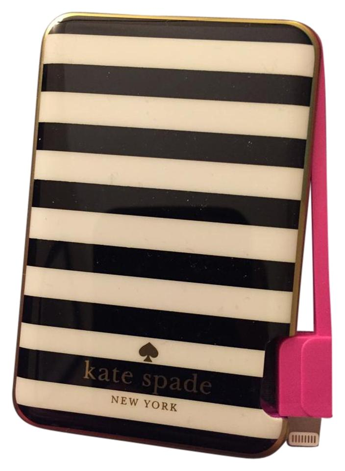 best cheap ba6d0 1b63d Kate Spade Black White and Pink New York Slim Portable Charger Tech  Accessory