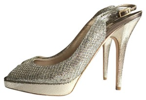 Jimmy Choo Glitter Champagne Formal