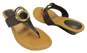 St. John Size 9.50 M Very Good Condition Brown, Neutral Sandals