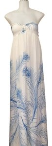 White and Blue Maxi Dress by Young Fabulous & Broke