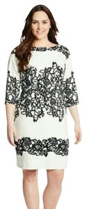 Adrianna Papell Floral Plus-size Knee Length Dress
