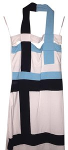 Arden B. short dress White black and teal on Tradesy