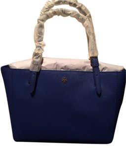 Tory Burch Leather Tote in Blue