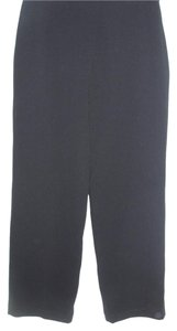 Bill Blass Basic Designer Dress Career Wide Leg Pants black