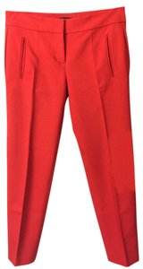 Ann Taylor Retail Ankle Slim Fit All-season Tailored Detail Straight Pants Roasted Red Pepper
