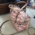 Coach F33765 White/Pink Leather Tote Coach F33765 White/Pink Leather Tote Image 5