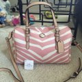 Coach F33765 White/Pink Leather Tote Coach F33765 White/Pink Leather Tote Image 7