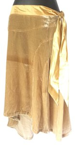 Parallel Ribbon Skirt yellow beige