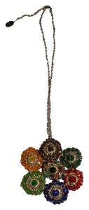 Anthropologie Anthropologie Lavish Beaded Crochet Multicolor Floral Flower Necklace