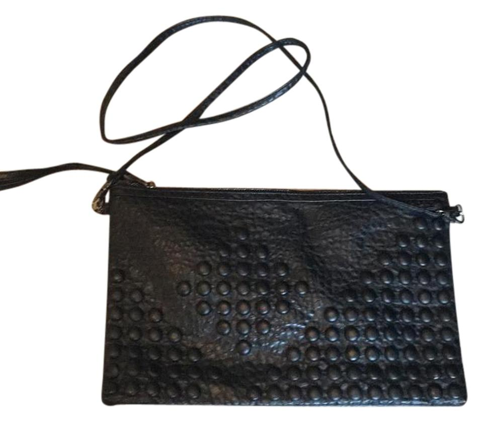 c9858656872b Bershka Converts To Clutch Black Faux Leather Cross Body Bag - Tradesy