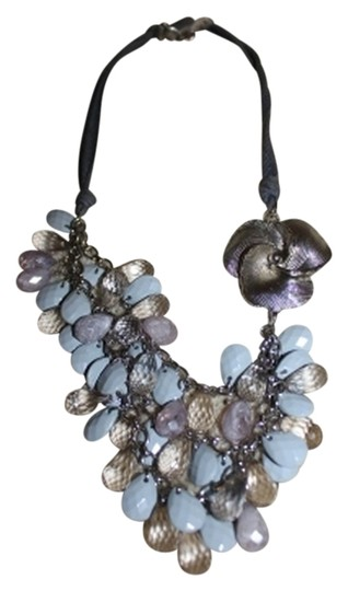 Preload https://item5.tradesy.com/images/anthropologie-blue-and-silver-anthropologie-tiered-flower-necklace-1515449-0-0.jpg?width=440&height=440