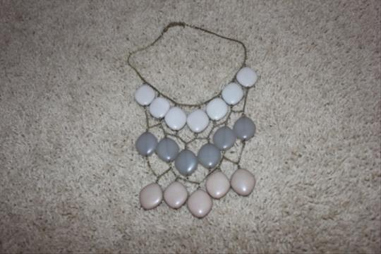 Macy's Tiered natural and green colored necklace