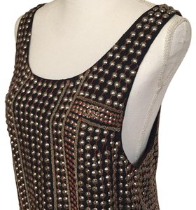 Free People short dress Black Metal Silver Emblished Sequins on Tradesy