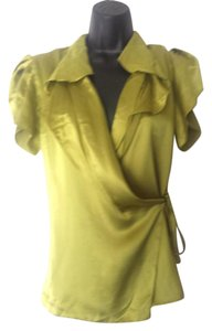 BCBGMAXAZRIA Greek Grecian Top Yellow Blouse