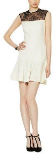 Jay Godfrey short dress ivory Lace Black Lace Fit And Flare White Lace on Tradesy