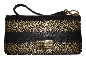 Betsey Johnson Black/gold star combination wallet /wristlet /gift boxed