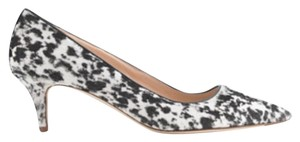 J.Crew Collection Kitten Heel And Black White Spots Pumps