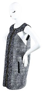 Andrew Gn short dress Black White Tweed on Tradesy