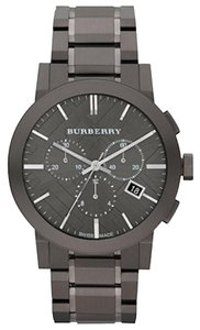 Burberry Men's Swiss Chronograph Gun Metal Bracelet BU9354