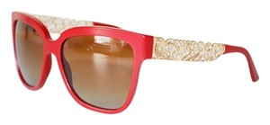 Dolce&Gabbana Dolce and Gabbana Sunglasses Women Gold Flower Lace Red Wayfarer 4212 floral D&G
